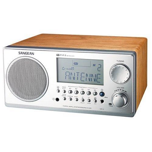 Sangean WR-2 Digital AM/FM Tabletop Radio, Walnut
