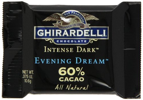 Ghirardelli Chocolate Intense Dark Squares, Evening Dream 60% Cacao, 0.375-Ounce Squares (Pack of 54