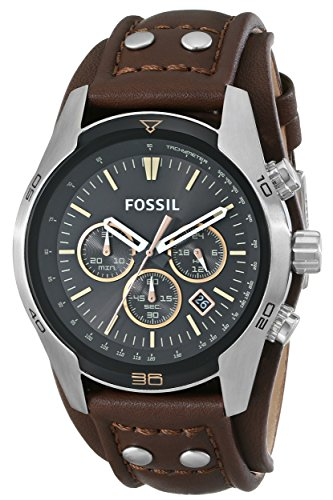 Fossil CH2891 Watches, Men's Coachman Chronograph Leather Watch – Brown