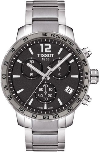 Tissot Quickster Chronograph Anthracite Dial Stainless Steel Mens Watch T0954171106700