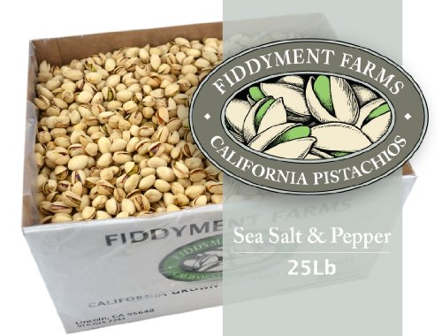 25 Lbs Sea Salt & Pepper In-shell Pistachios