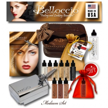 Belloccio MEDIUM Professional Airbrush Makeup System