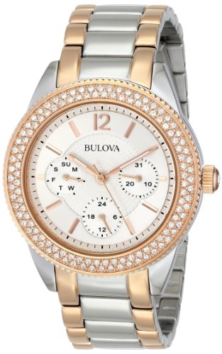 Bulova Women's 98N100 Multi-Function Crystal Bracelet Watch