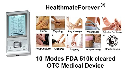 FDA cleared HealthmateForever Pro-8AB upgrade 2014 version 10 modes pain relief electrotherapy devic