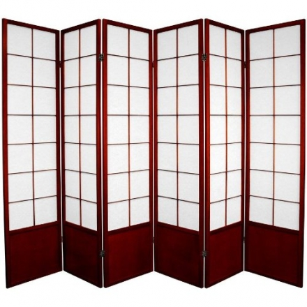 Oriental Furniture Where to Get Room Dividers Large Size, 6-Feet Zen Japanese Shoji Privacy Screen,