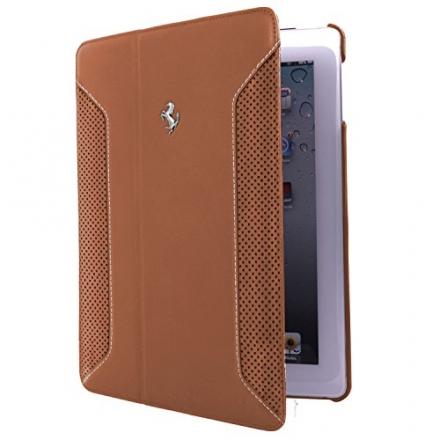 CG Mobile Ferrari Brown Genuine Leather iPad Air Folio Case FEF12FCD5CA