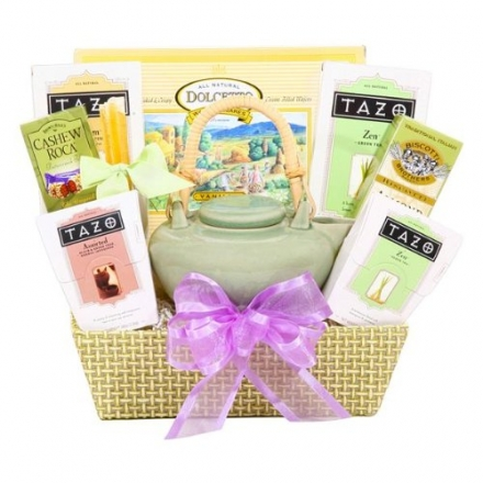 Alder Creek Gifts Springtime Zen Tea Tray, 3 Pound