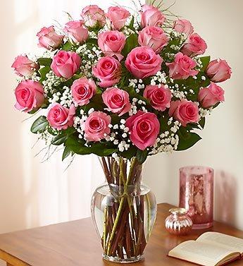 1800Flowers – Ultimate Elegance Premium Long Stem Pink Roses – 24 Stem Pink…