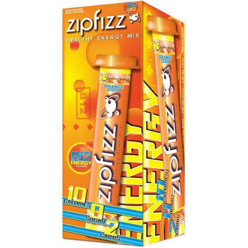 Zipfizz Energy/Sports Drink Mix – Orange Soda – CASE PACK OF 4