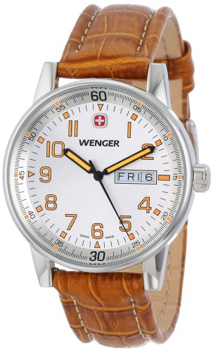 "Wenger Men's 70170 ""Commando"" Stainless Steel Watch with Brown Leather Strap"
