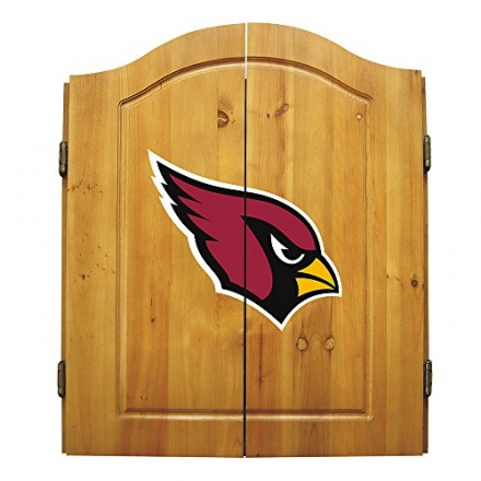 NFL Team Logo Complete Dart Cabinet Set Team: Arizona Cardinals