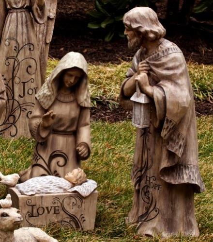 Mary, Joseph and Baby Jesus Large Nativity Trio