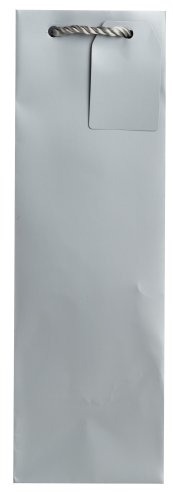 Jillson Roberts Bulk Wine and Bottle Gift Bag, Silver Matte, 120-Count (BBT914)