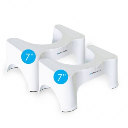 Squatty Potty® Ecco Toilet Stool, 7inch (2-Pack)