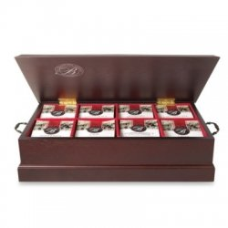 Bentley's Boston Tea Company Walnut Finish Tea Box Chest, 8 Assorted Flavors, Tea Bags, 96-count