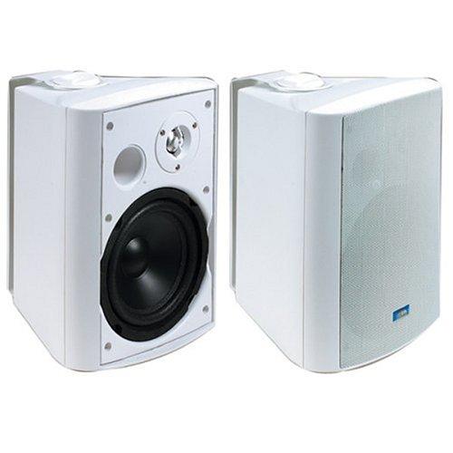 TIC PYLPLTTB1 Architectural Series 120-Watt Exterior Patio Speakers – White
