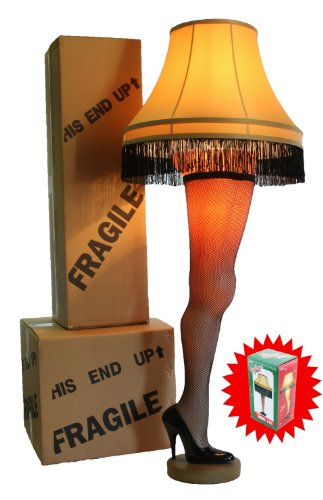 A Christmas Story Combo: 50″ Full Size Leg Lamp & Leg Lamp Night Light