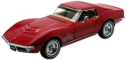 1970 Chevrolet Corvette Monza Red 1/18 Limited Edition 1 of 6000 Produced Worldwide by Autoart 71172