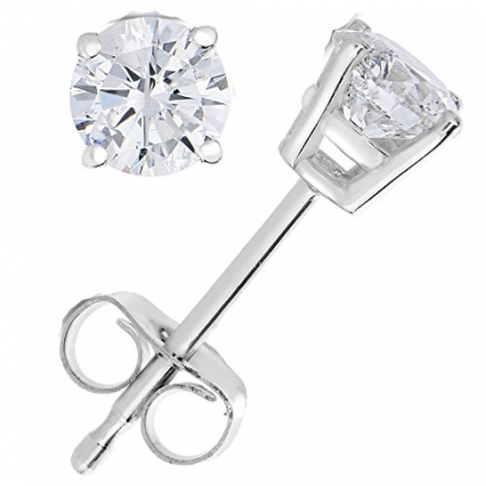 IGI Certified 1/4 to 0.82 CT Diamond Stud Earrings 14k Gold