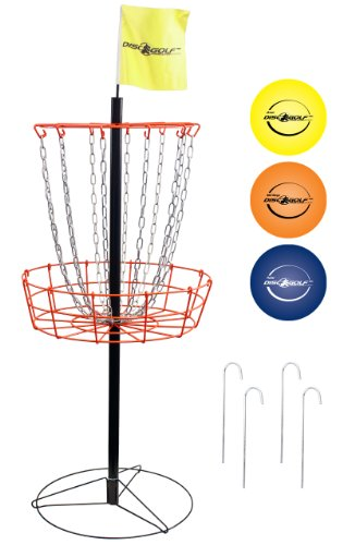 Park & Sun Portable Disc Golf Target and Disc Set