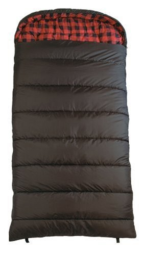 TETON Sports Celsius XXL -18 Degree C / 0 Degree F Flannel Lined Sleeping Bag (90″x 39″)