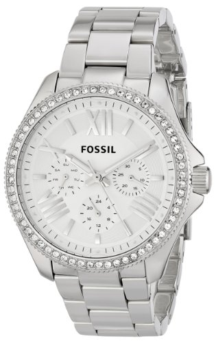 Fossil Women's AM4481 Cecile Multifunction Stainless Steel Watch – Silver-Tone