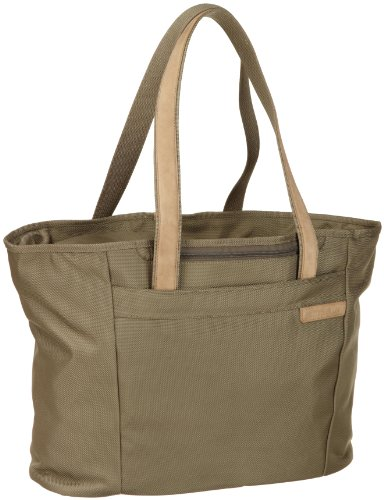Briggs & Riley Baseline Large Shopping Tote,Olive,13x17x7.3