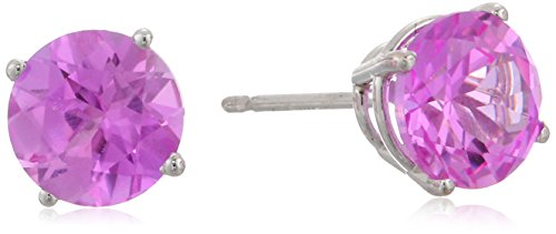 14k Gold Round Birthstone 4-Prong Solitaire Studs