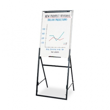 Quartet Futura Dry-Erase Easel, Dual-Purpose Writing Board/Flipchart (351900)
