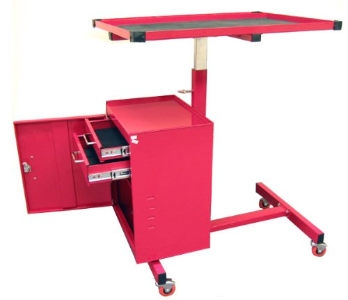 Excel TC304C-Red 31-Inch Steel Tool Cart, Red