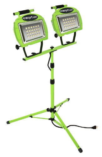 Designers Edge L1322 Eco-Zone 48-LED Twin Head High Intensity Indoor/Outdoor Work Light with Telesco