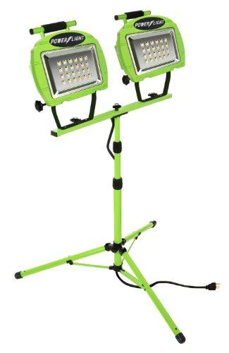 Designers Edge L1322 Eco-Zone 48-LED Twin Head High Intensity Indoor/Outdoor Work Light with Telesco