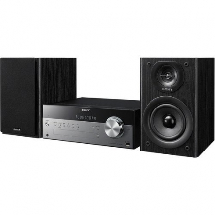 Sony Micro Hi-fi Shelf System with Single Disc Cd Player, Bluetooth, USB Input, 2-Way, Bass Reflex S