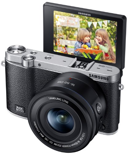 Samsung NX3000 Wireless Smart 20.3MP Compact System Camera with 16-50mm OIS Power Zoom Lens and Flas