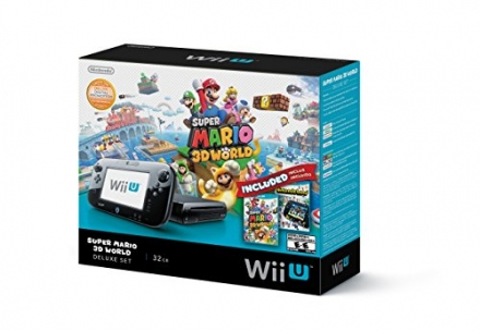 Nintendo Wii U Deluxe Set: Super Mario 3D World and Nintendo Land Bundle – Black
