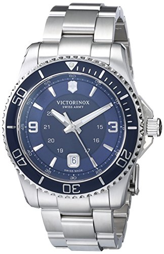 Victorinox Men's 241602 Maverick Analog Display Swiss Quartz Silver Watch