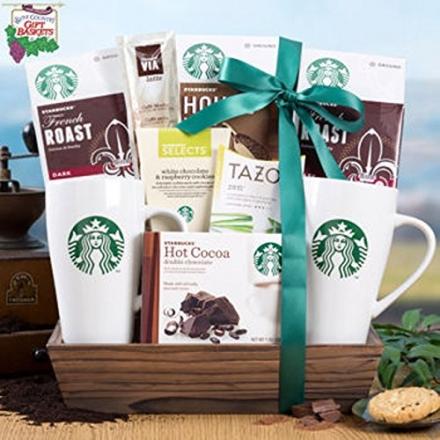 Starbucks® Holiday Favorites Coffee & Tea Gift Tray – COS