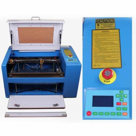 Generic 50w Co2 Laser Engraving Cutting Machine Laser Engraver with Auxiliary Potary Device up & Dow