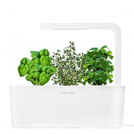 Click & Grow Smart Herb Garden Indoor Grow Kit with Basil, Thyme, and Lemon Balm Cartridges