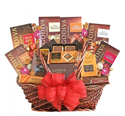 Holiday Greetings Godiva Chocolate Gift Basket