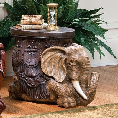 Design Toscano AH225765 The Sultans Elephant Sculptural Side Table