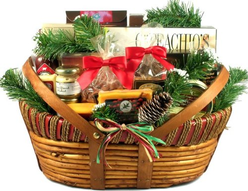 Gift Basket Village Home for The Holidays Meat and Cheese Gift Basket, Large