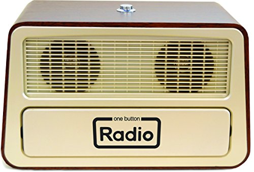 Dementia One Button Radio – Great gift for Seniors with Memory Loss or for the Visually Impaired / N