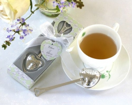 """Tea Time"" Heart Tea Infuser Favor in Teatime Gift Box [Set of 96]"