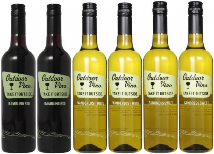 Naked Winery Outdoor Wino 6 pack Mixed Pack, 6 x 750 mL