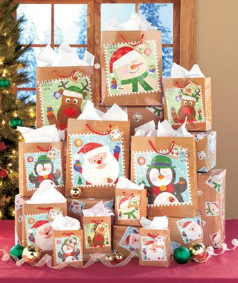 Holiday Stamp Gift Bag Set-26-pc.