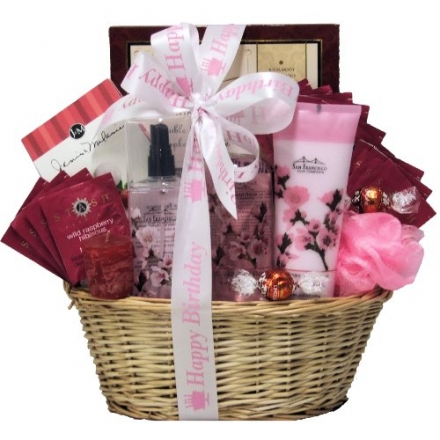 GreatArrivals Gift Baskets Cherry Blossom Spa Retreat Birthday Spa Gift Basket