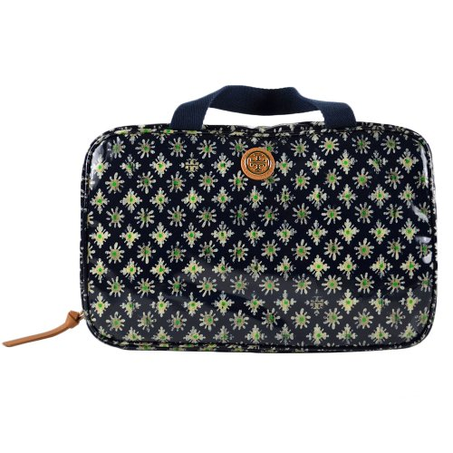 Tory Burch Classic Hanging Zip Cosmetic Case w Hook Tory Navy Multi