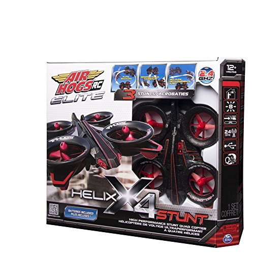 Air Hogs Rc Elite Helix X4 Stunt Quad-copter and Batteries Gift Set By Spin Master