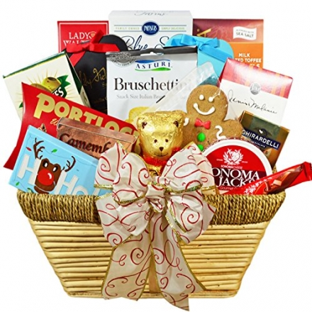 Jingle All the Way Large Gourmet Christmas Gift Basket with Keepsake Ornament